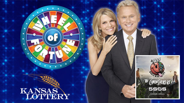 None - Win $30 in Kansas Lottery Wheel of Fortune Tickets & Qualify For Chainsmokers Tickets!