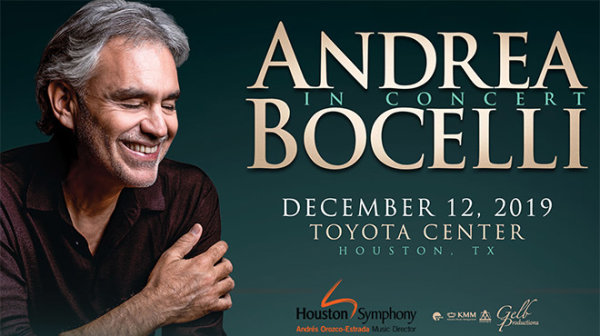 None - See Andrea Bocelli with the Houston Symphony