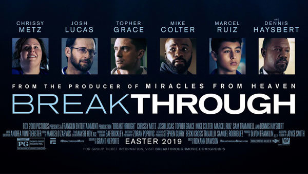None - Win a 4-pack of tickets to see BREAKTHROUGH!