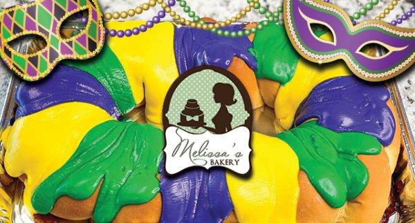 Mardi Gras King Cake From Melissa's Bakery
