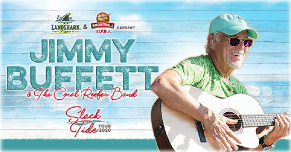 None - Jimmy Buffett and the Coral Reefer Band to bring their Slack Tide Tour 2020 to North Charleston Coliseum Thursday, April 16th!