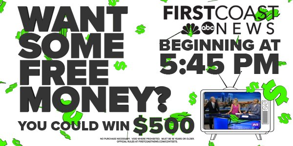 Want to win $500? Watch First Coast News at 5:45 pm weekdays
