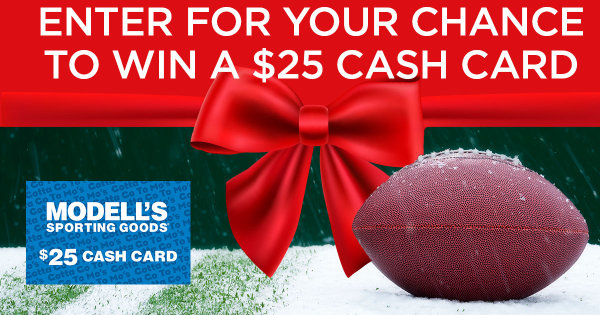 None -  Enter For Your Chance To Win A $25 Modell's Cash Card For This Holiday Season!