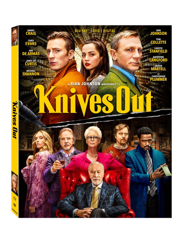image for Enter to win a Blu-ray copy of KNIVES OUT and a delicious Popcornopolis gourmet popcorn gift basket!
