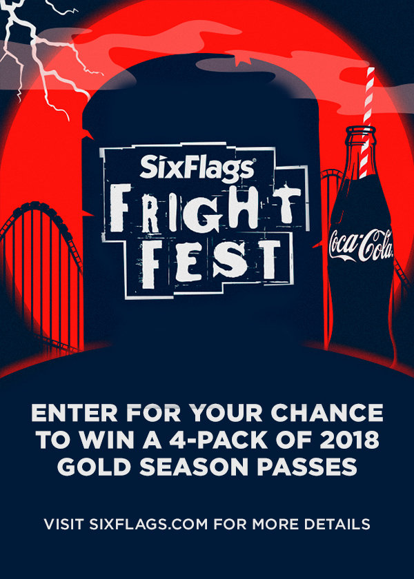 Win a 4-pack of 2018 Gold Season Passes to Six Flags!