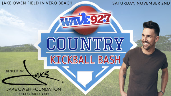 None - Wave 92.7 Country Kickball Bash To Benefit The Jake Owen Foundation