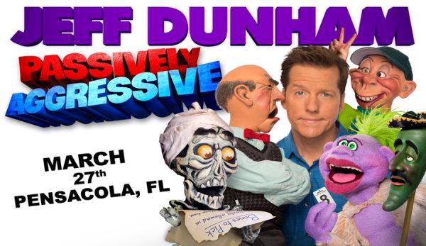 None -   Win tickets to see Jeff Dunham at Pensacola Bay Center!