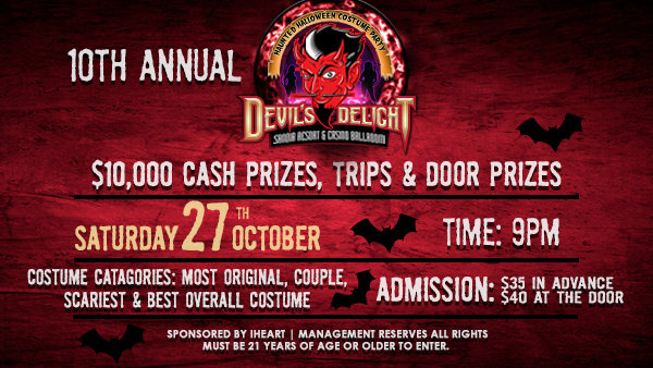 None - Win Devil's Delight Tickets