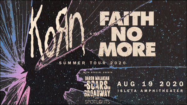 image for Win KORN & Faith No More Tickets