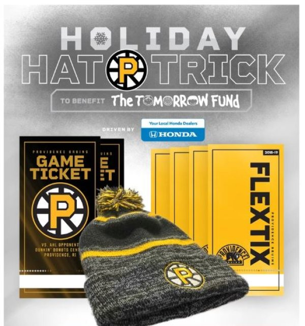 None - Providence Bruins Holiday Hat Trick