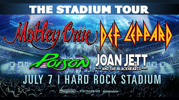 None - The Stadium Tour with Def Leppard, Mötley Crüe, and more!