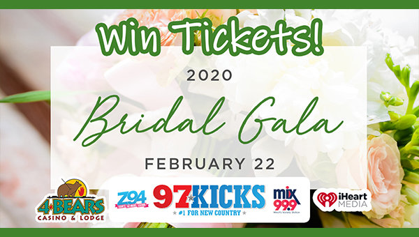 None - Win tickets to the 4 Bears Casino Bridal Gala!