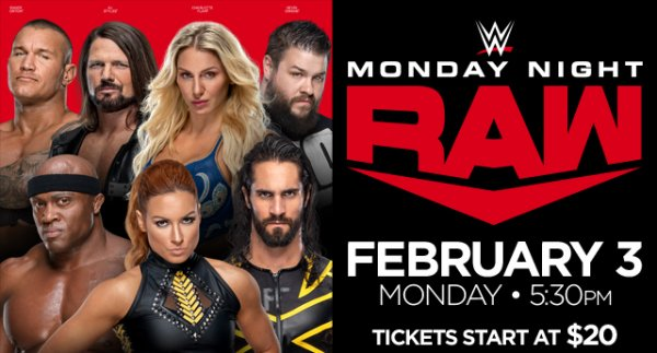 None - Watch WWE Monday Night RAW LIVE with Hooker, DB & Becka!