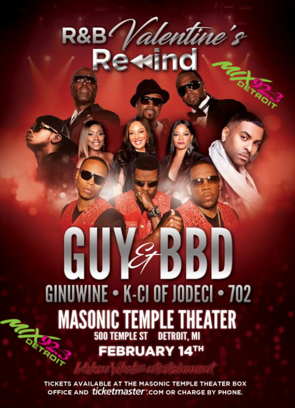 None - Win Front Row tickets to see the R&B Valentine's Rewind!