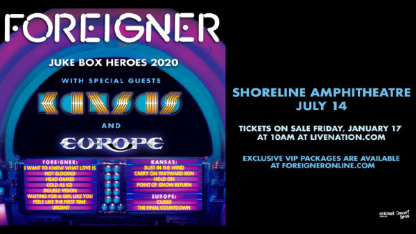 None - Enter For The Chance To Win Tickets To See Foreigner With Kansas and Europe!