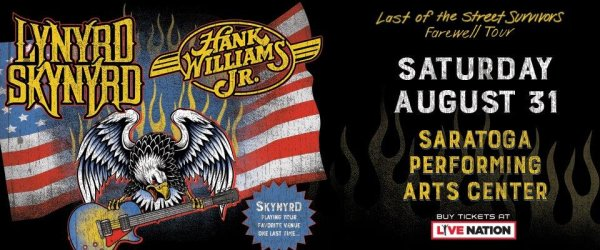 None -  Chance to Win Tickets to Lynyrd Skynyrd at SPAC!