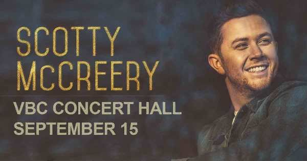 Register to win tickets to see Scotty McCreery at the VBC