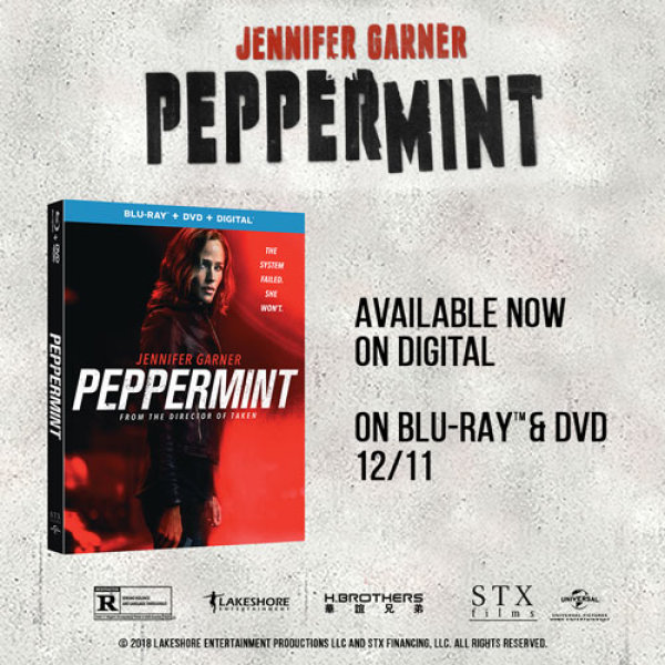 None - Peppermint starring Jennifer Garner Blu-ray Combo Pack Promotion