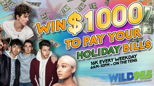 None - Listen For Your Chance To Win $1,000 Every Hour!