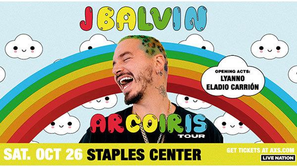 None - Win Tickets to J Balvin Arcoíris Tour!