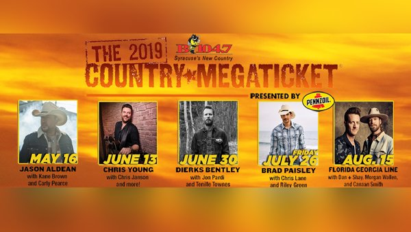 None -  Win the B104.7 Country MEGATICKET!