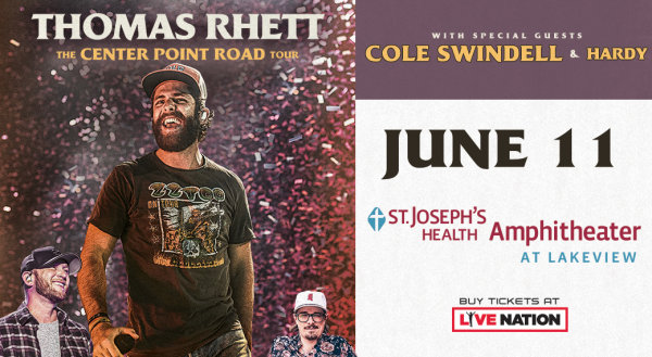 None - Win tickets to Thomas Rhett at the Amphitheater!