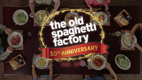 None - You could win $50 to Old Spaghetti Factory!