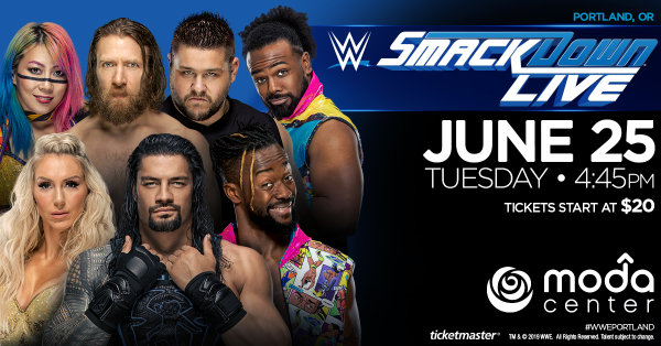 None - WWE Smackdown - 6/25 @ Moda Center