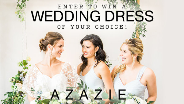None - Enter to win a Wedding Dress from Azazie!
