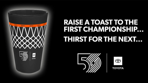 None - Win a Blazers 50th Season Commemorative Pint!