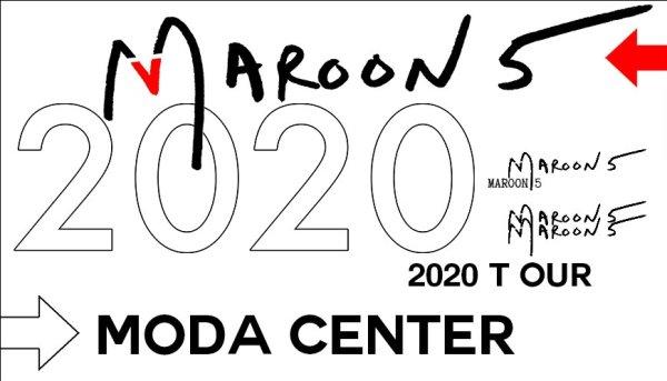 None - Maroon 5 - 8/17 @ Moda Center