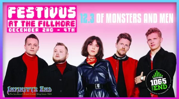 None - Win Festivus at the Fillmore Tickets with Of Monsters And Men!