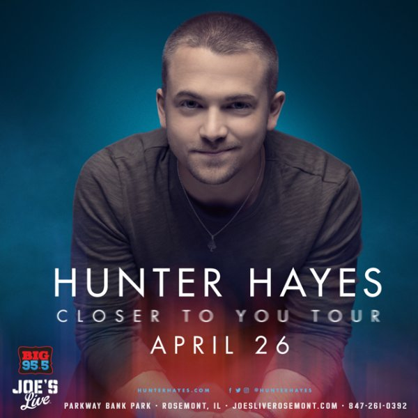 None -  win Tickets: Hunter Hayes at Joe's Live on 4.26.19!