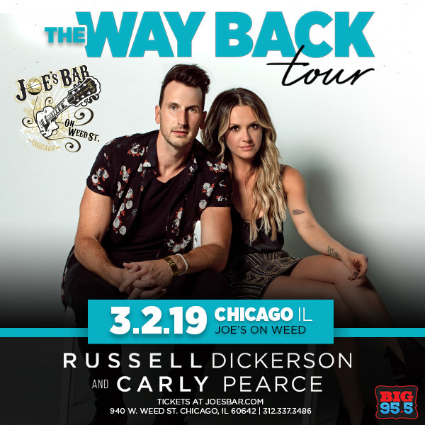 None -  Enter for your chance to win tickets to see Russell Dickerson & Carly Pearce at Joe's on Weed St. on 3.2.19!