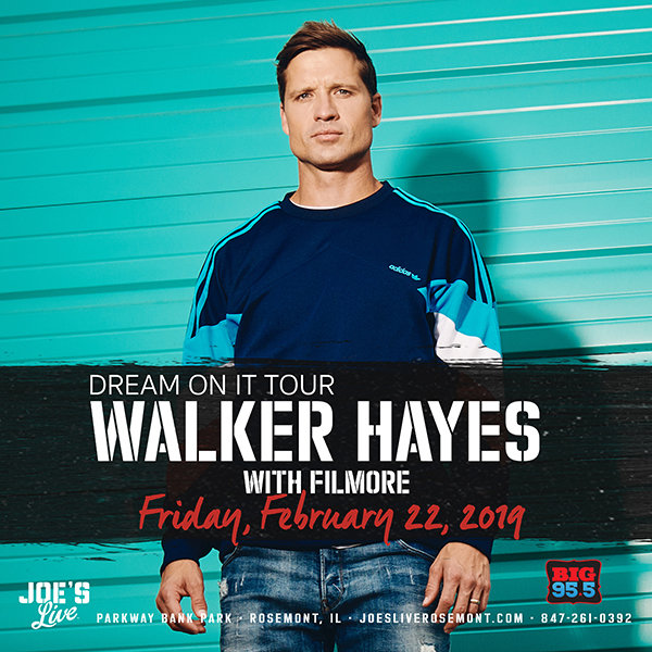 None -  Enter for your chance to win tickets to see Walker Hayes at Joe's Live on 2.22.19!
