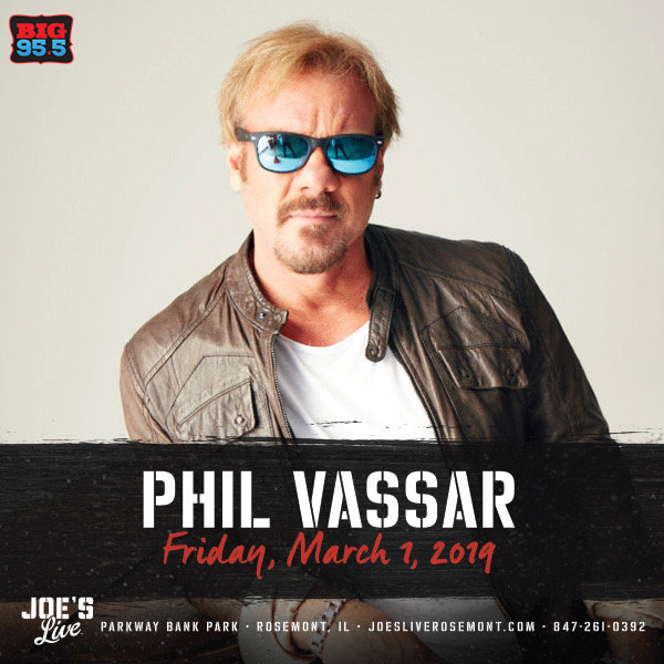 None - Enter for your chance to win tickets to see Phil Vassar at Joe's Live on 3.1.19!