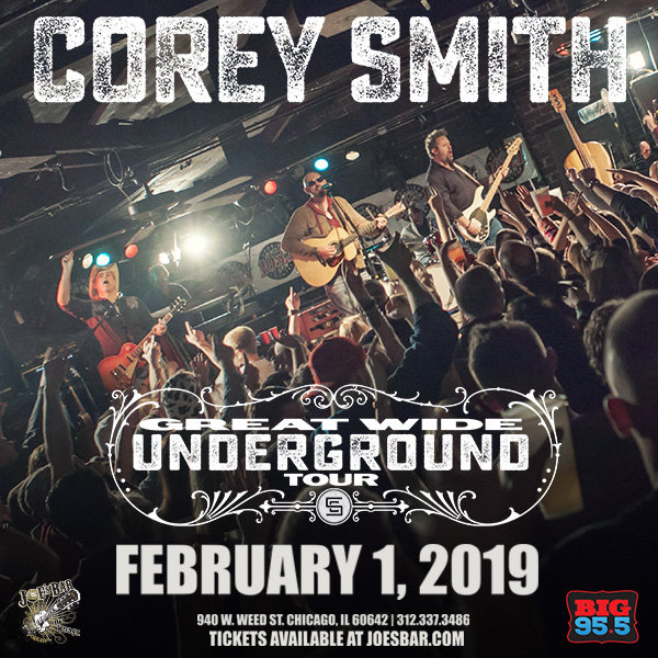 None -   Enter for your chance to win tickets to see Corey Smith at Joe's on Weed St. on 2.1.19!