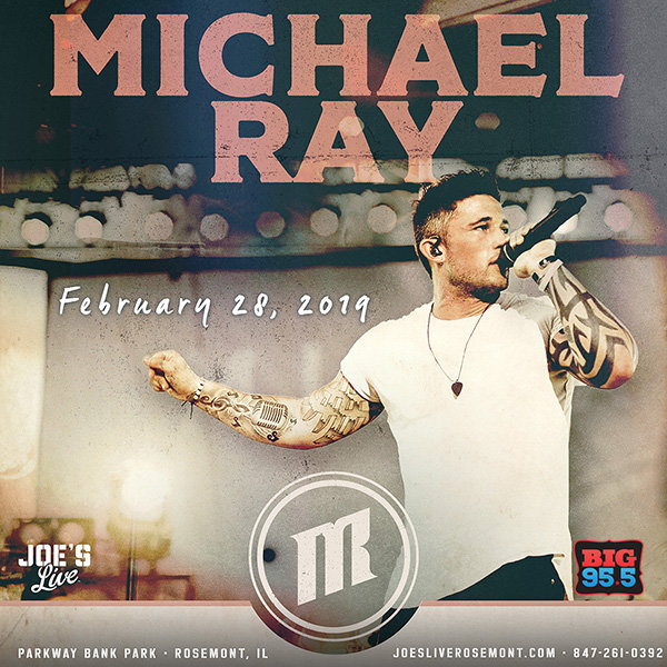 None - Enter for your chance to win tickets to see Michael Ray at Joe's Live on 2.28.19!
