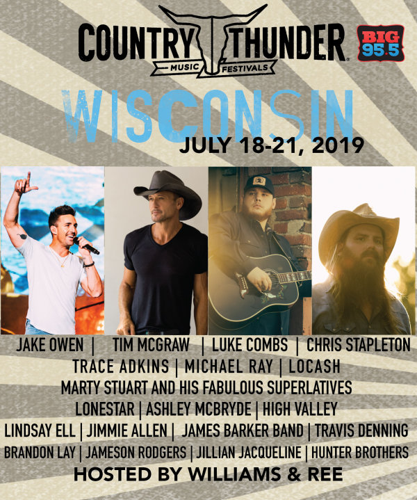 None -  Enter for your chance to win 4-Day Passes to Country Thunder Wisconsin 2019!