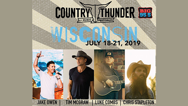None -    Win Tickets: 4-Day Passes to Country Thunder Wisconsin 2019!