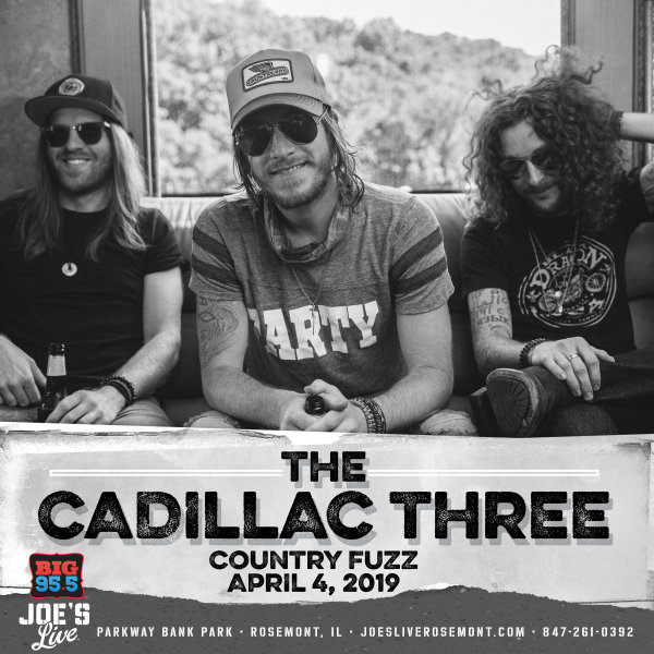 None -  Enter for your chance to win tickets to see The Cadillac Three at Joe's Live on 4.4.19!