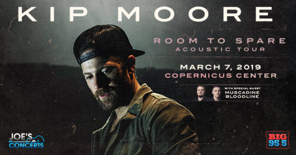 None - Enter for your chance to win tickets to see Kip Moore at the Copernicus Center on 3.7.19!