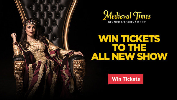 None - Enter for your chance to win a Family 5-Pack of tickets to Medieval Times!