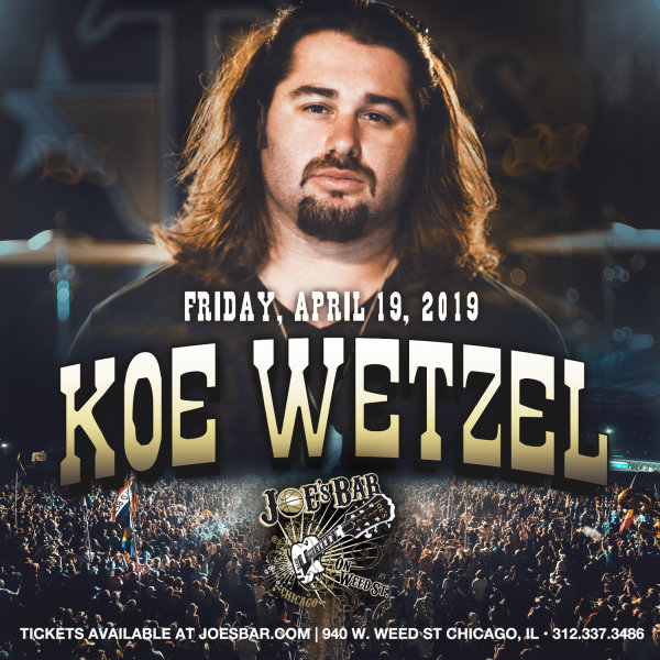 None -  Enter for your chance to win tickets to see Koe Wetzel on 4.19.19 at Joe's on Weed St.!