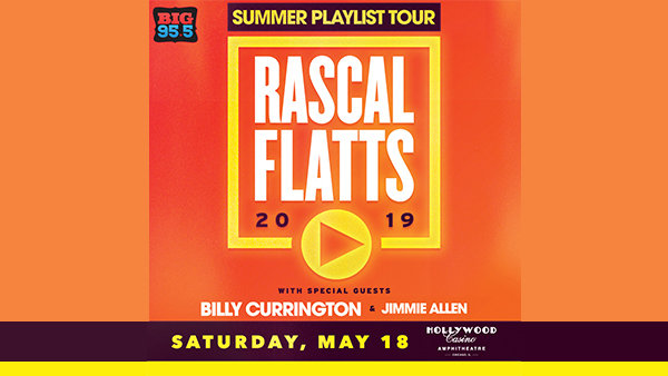 None -   Win Tickets: Rascal Flatts at the Hollywood Casino Amphitheatre on 5.18.19!