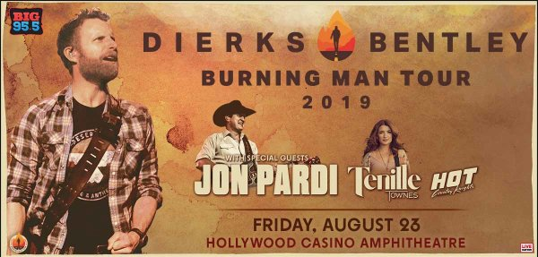 None -  Win tickets: Dierks Bentley at Hollywood Casino Ampitheatre on 8.23.19
