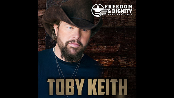 None -    Win Tickets and Meet & Greets: Freedom & Dignity Festival with Toby Keith on 8.10.19!