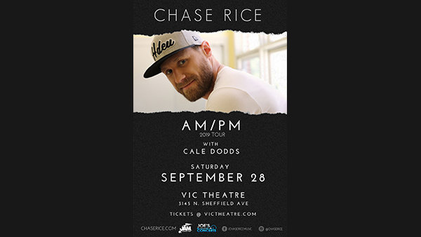 None - Win Tickets: Chase Rice at the Vic Theatre on 9.28.19!