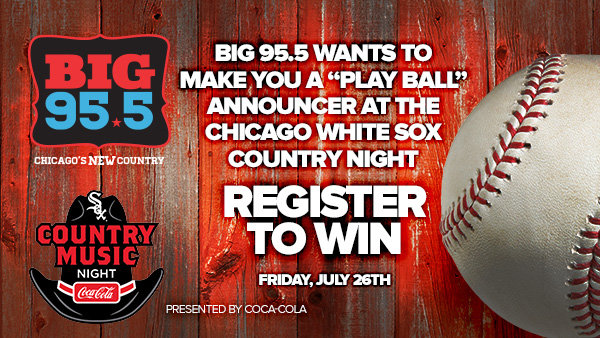 """None - BIG 95.5 Wants to Make You a """"Play Ball"""" Announcer at Country Night on 7.26.19!"""