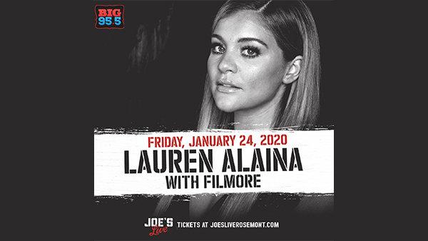 None - Win Tickets: Lauren Alaina at Joe's Live on 1.24.20!